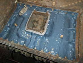 Engine's steam chest coated with Belzona 1391
