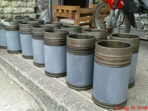 Repaired and protected cylinder liners