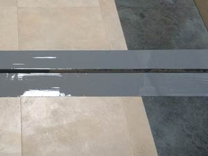 Completed restoration of expansion joint