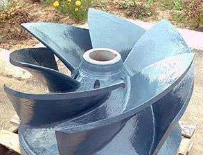 Coated pump impeller for long-term protection