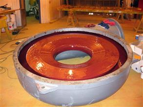 Large blower coated with Belzona 4341 (Magma CR4) to provide acid resistance