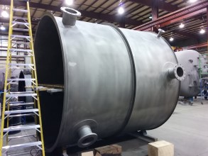 New build tank requiring protection from corrosion and chemical attack